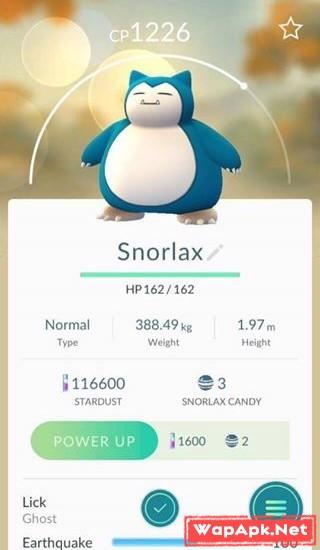 Snorlax trong Pokemon Go