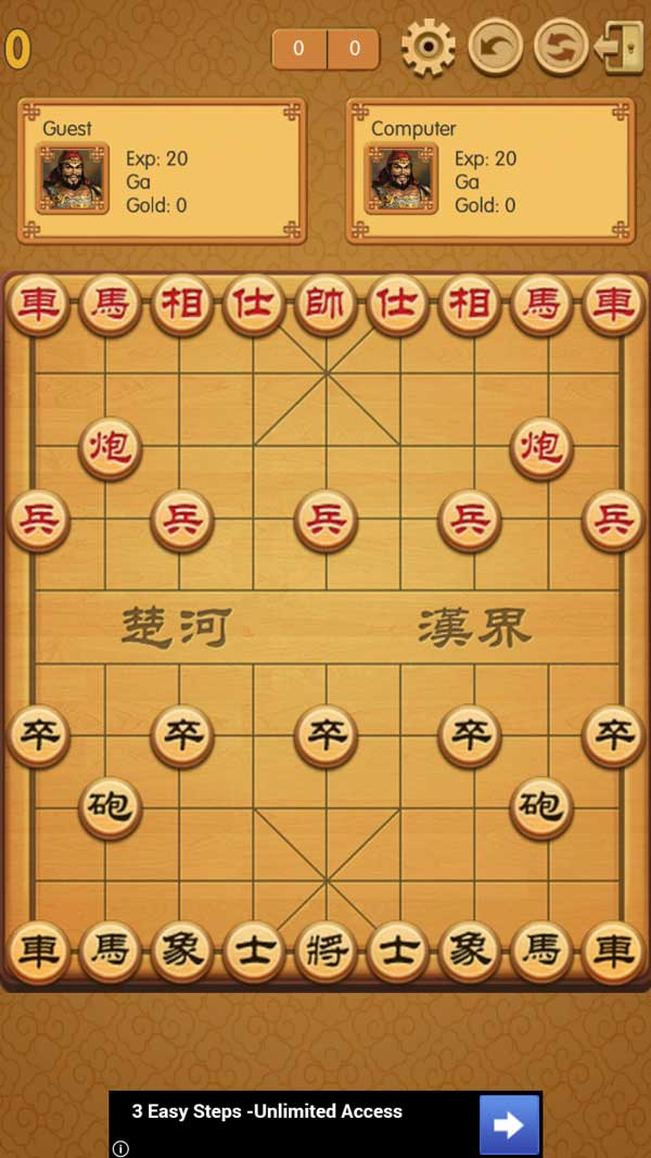 Giao diện game cờ tướng online