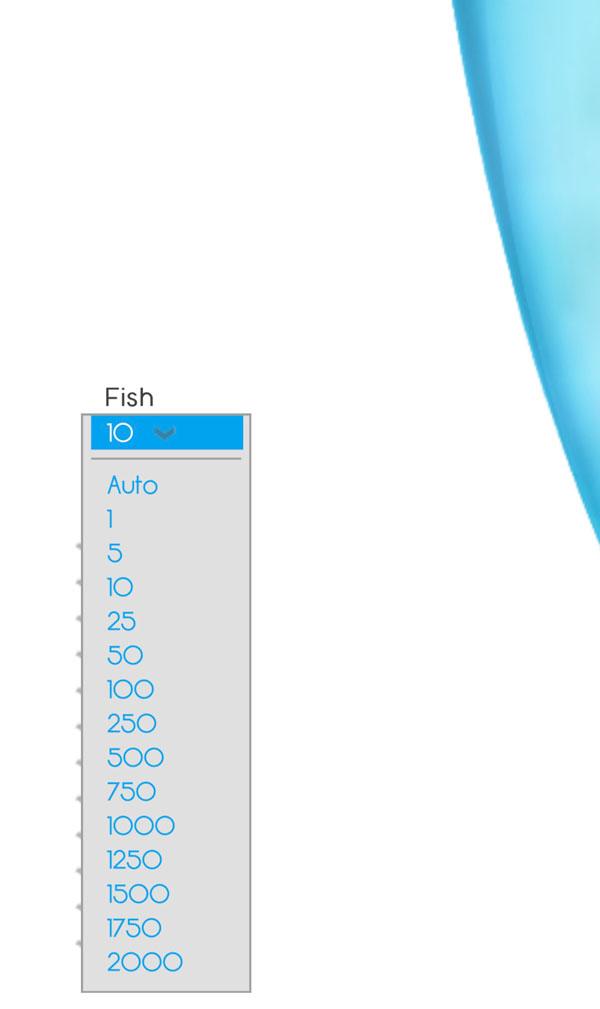 Lựa chọn số cả hiện trong bình trên Fish Bowl