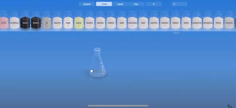 Các chất hóa học trong App Chemist