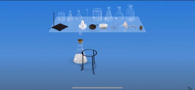 Thí nghiệm hóa học ảo bằng app Chemist